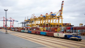 The first block train from China arrived in Bremerhaven on Monday, April 13th.